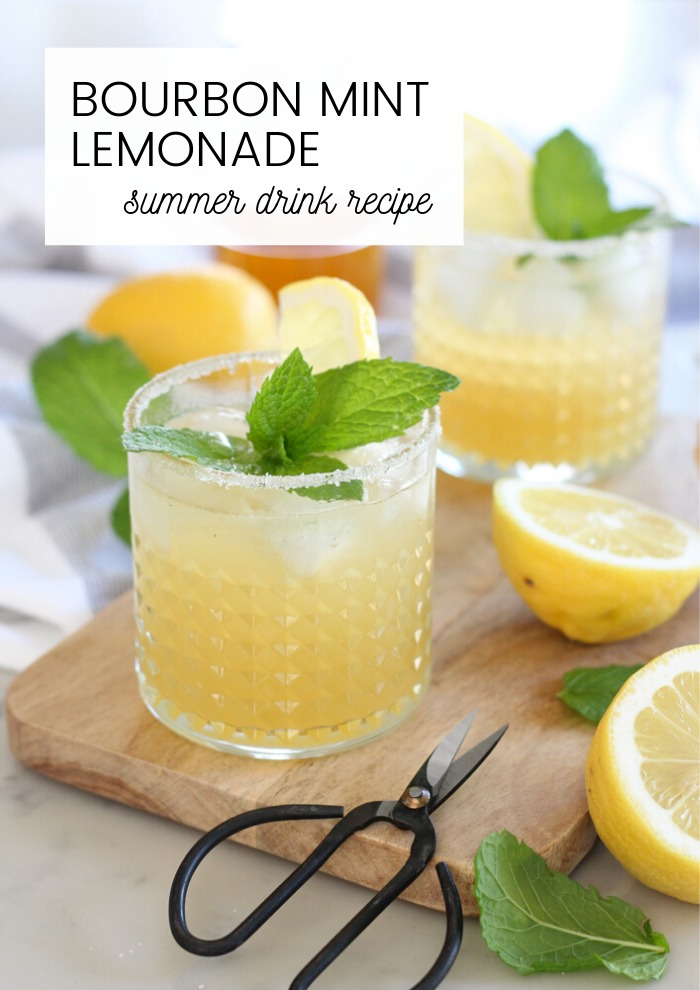 Bourbon Mint Lemonade Cocktail Recipe