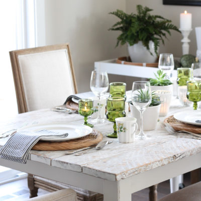 DIY Whitewashed Dining Table