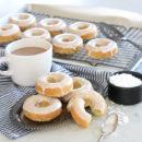 Gluten Free Zucchini Donuts with Vanilla Glaze