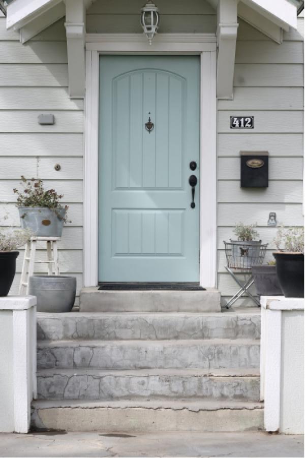 Benjamin Moore Wythe Blue Door by The Wicker House
