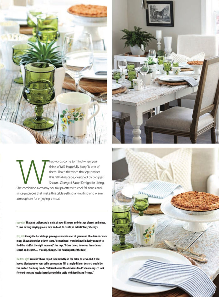 American Farmhouse Style October/November 2020 Fall Table Setting Feature
