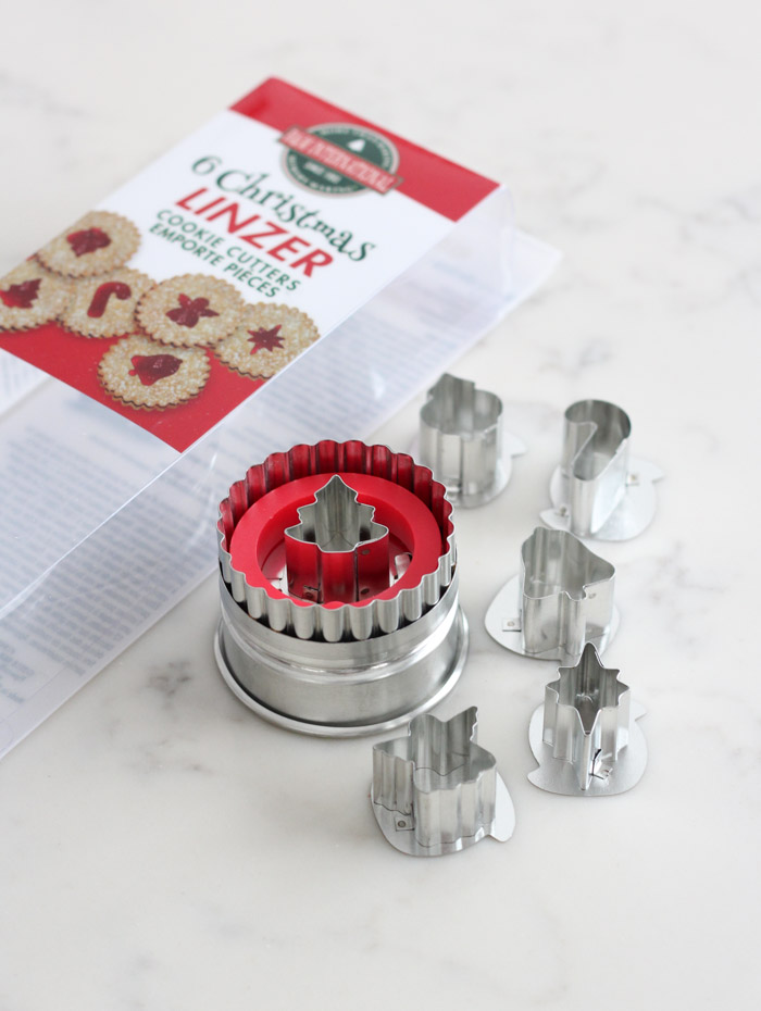 Christmas Linzer Cookie Cutter Set