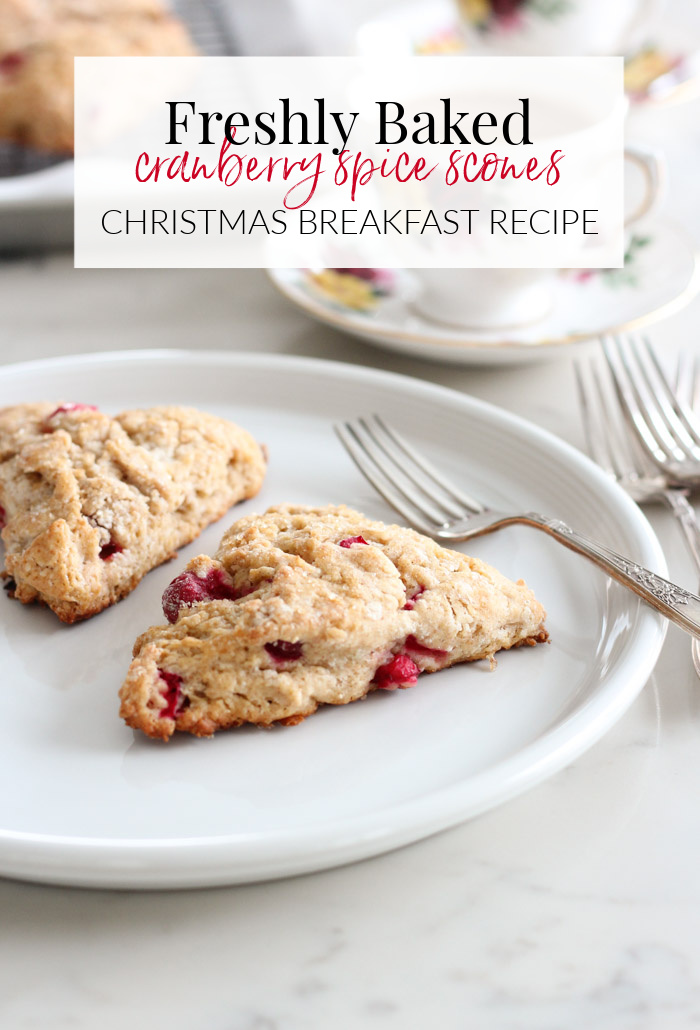 Freshly Baked Cranberry Spice Scones for Christmas Morning