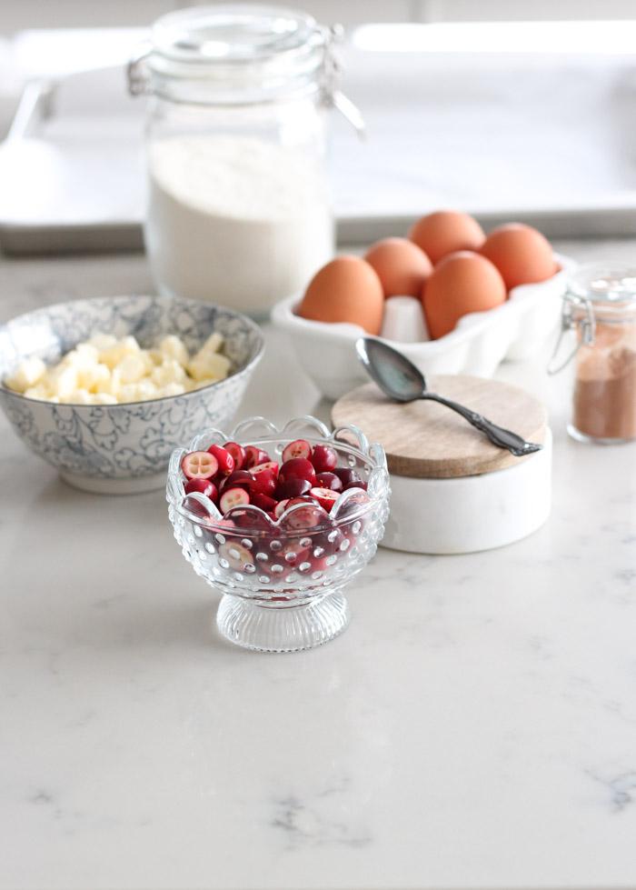 Ingredients to Make Cranberry Spice Scones