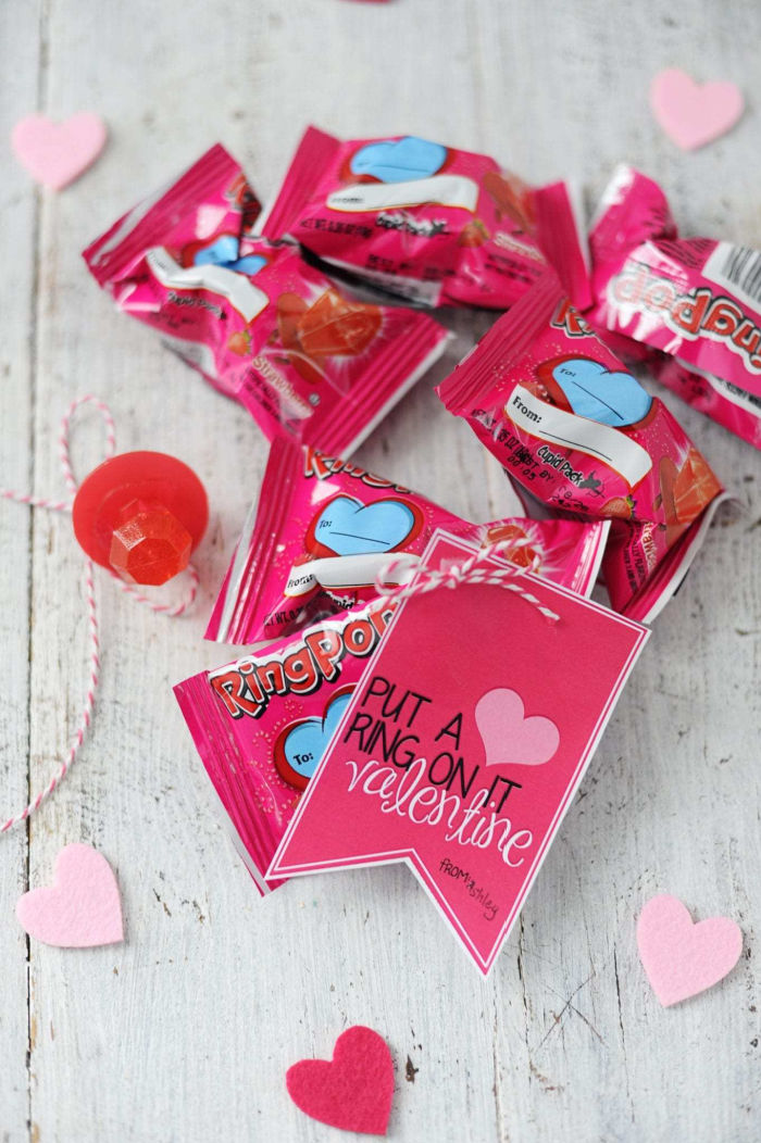 Put a Ring on It Valentine's Day Card with Ring Pop Candy