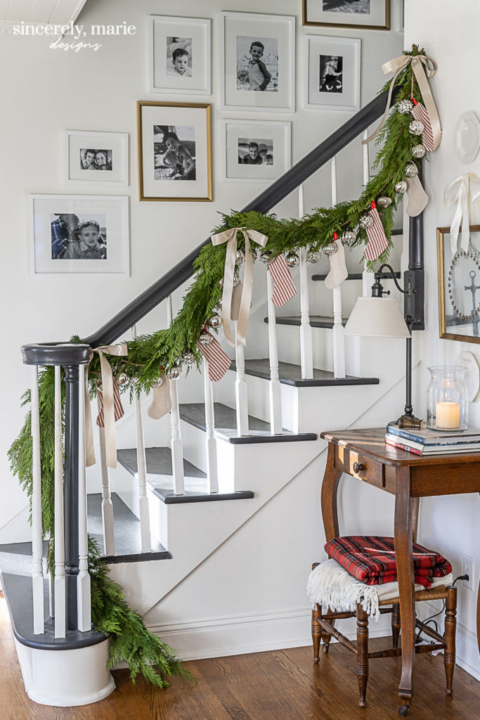 Benjamin Moore Graphite Staircase Bannister and Treads - Sincerely, Marie Designs