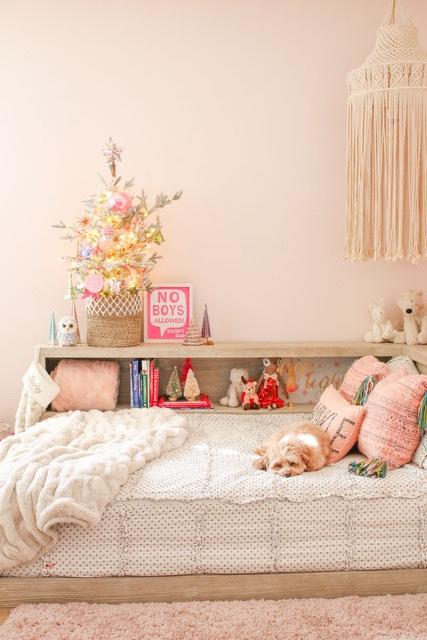 Girl's Pink Bedroom Walls - Modern Glam