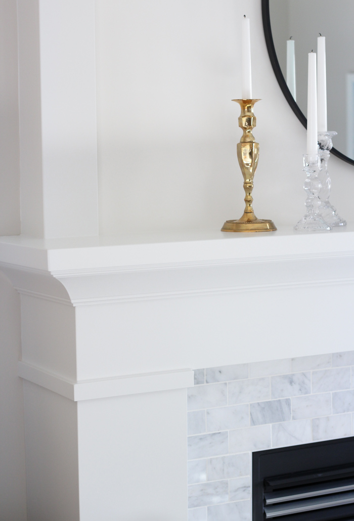 White Painted MDF Fireplace Mantel