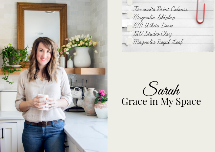 Favourite Paint Colours by Sarah of Grace in My Space