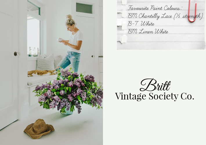 Favourite Paint Colours by Britt of Vintage Society Co.