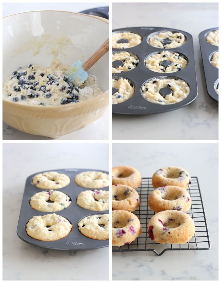 Steps for Making Baked Donuts