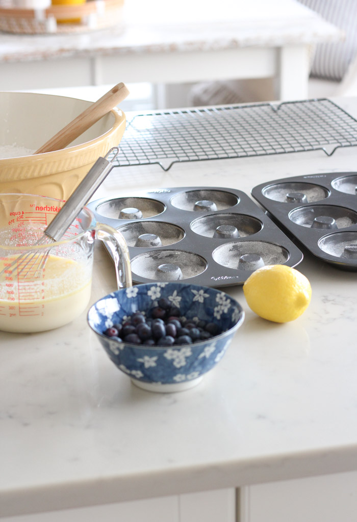 Donut Pans, Gripstand Mixing Bowl and Supplies for Making Donuts