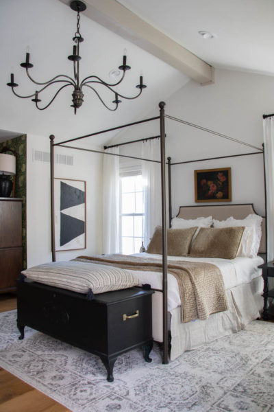 White Dove Bedroom Walls with Canopy Bed - Seeking Lavender Lane
