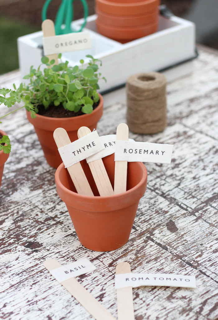 DIY Garden Markers for Herbs and Vegetables