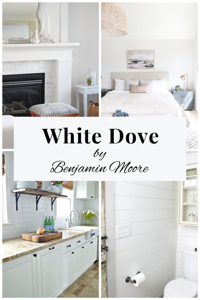 White Dove by Benjamin Moore - White Wall, Cabinet and Trim Paint - A Review of this Poplular Colours with Inspiration Pics