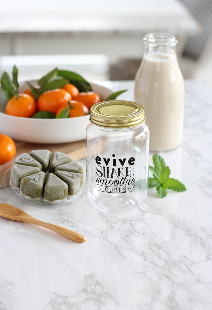 Evive Frozen Smoothie Cubes with Cashew Milk and Jar