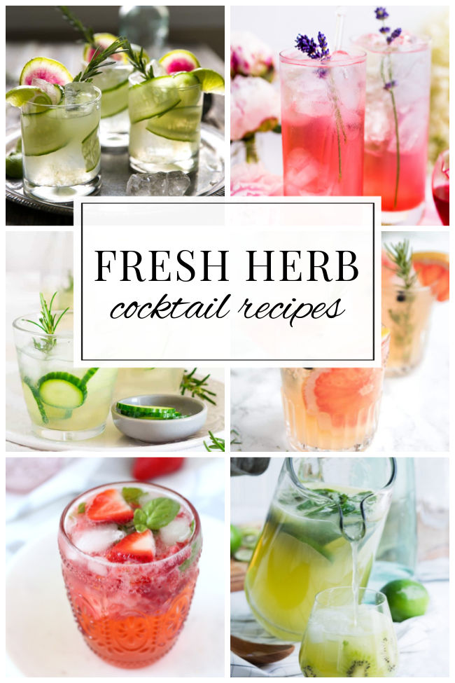 Fresh Herb Cocktail Recipes