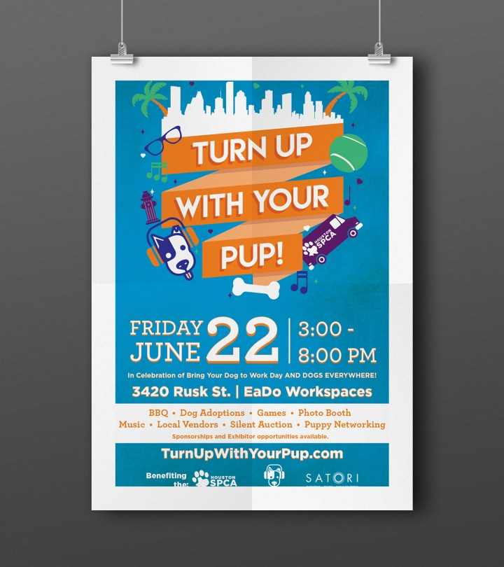 Turn Up With Your Pup Event Poster