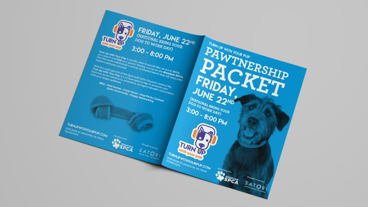 Turn Up With Your Pup Pawtnership Packet