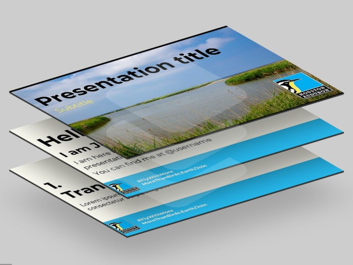 Houston Audubon PowerPoint Template