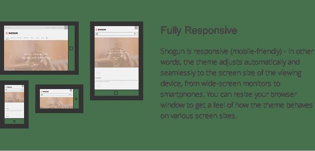 shogun features - responsive