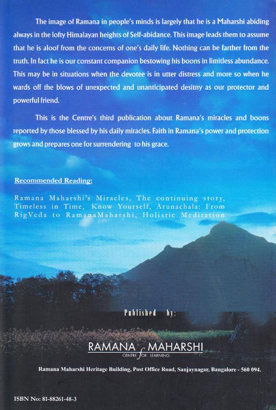 Bhagavan Ramana Boon Giver - Back Cover