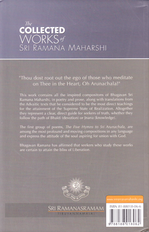 The Collected Works of Sri Ramana Maharshi - Backcover