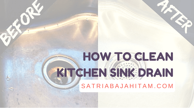 how to clean kitchen sink drain with baking soda, orange lime, CIF, wheat flour