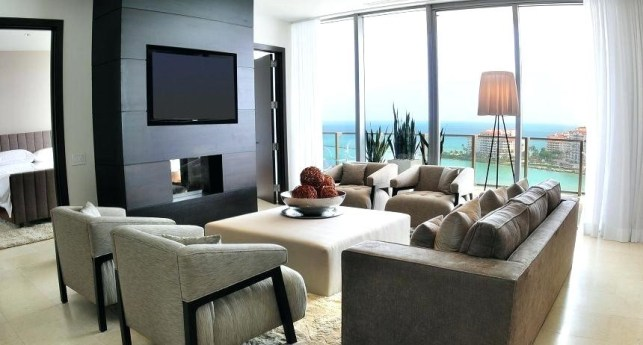 Apartment's Fireplace Room Ideas with TV - mikekyleclub