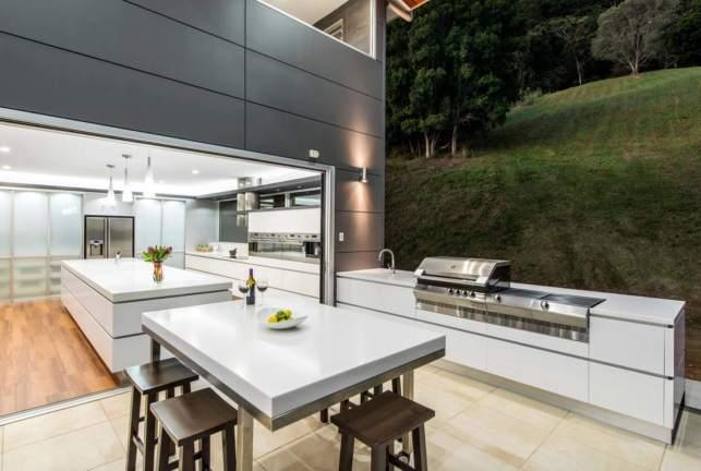 Backyard Deck Ideas by the Indoor Kitchen - sqshicom