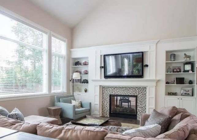 Fireplace Room Ideas with Mosaic Tile - edivagr