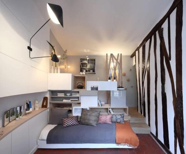 Hide Bed under the Platform - humble-homescom