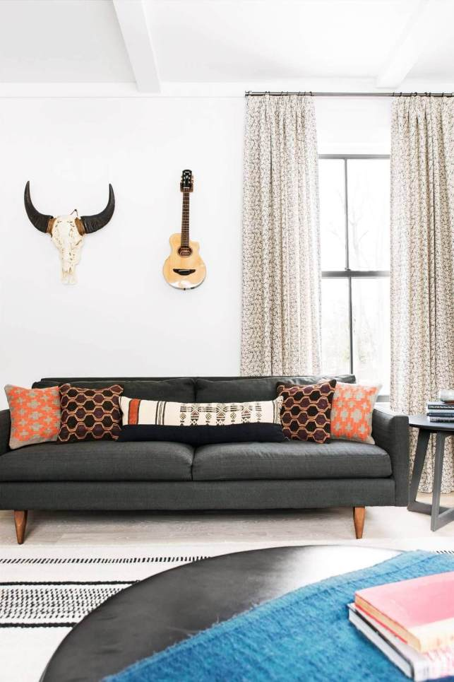 Playing with Patterns in Living Room - pinterestcom