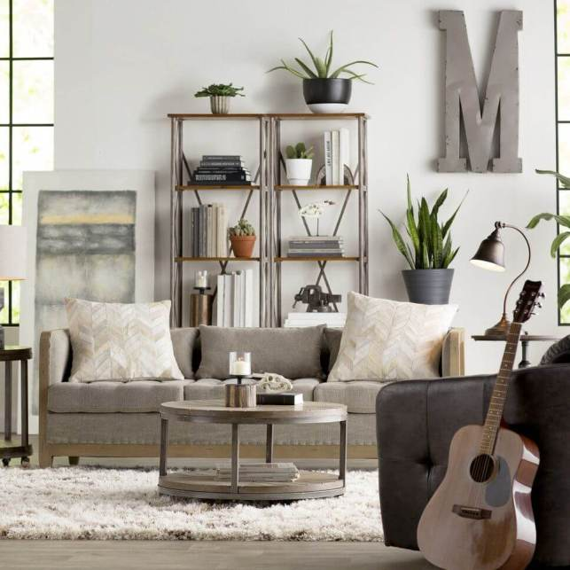 Rustic Living Room Ideas with Industrial Vibes - pinterestcom