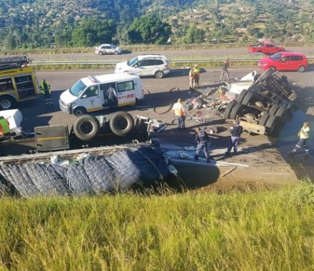 Driver Seriously Injured In N3 Truck Crash Near Pinetown – video