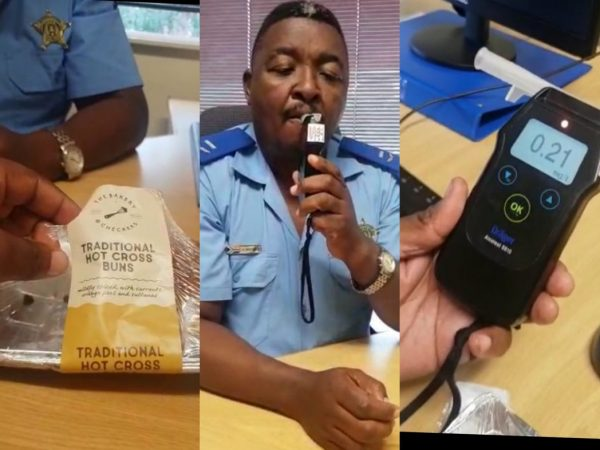 Can eating hot cross buns get you arrested at a breathalyser roadblock?