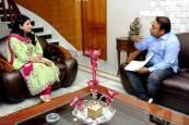 Interviewing INLD Dabwali MLA Naina Chautala