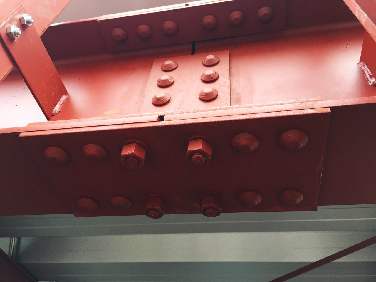 設計・デザインをしたI-NC旋盤加工・機械部品加工工場の鉄骨接合部ボルト検査