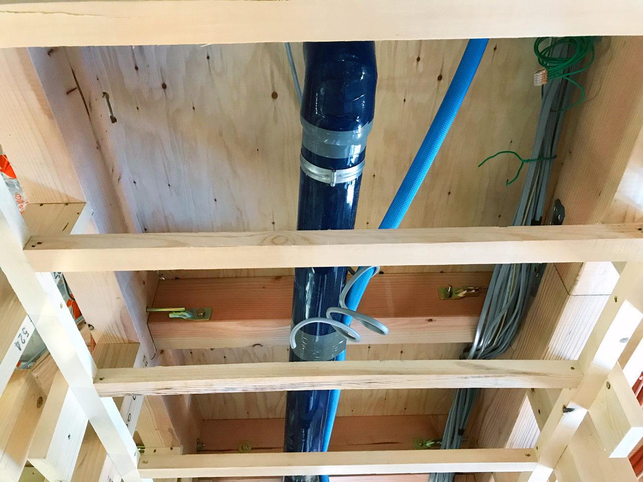 設計・デザインをした市街化調整区域での注文住宅建て替えの汚水配管検査