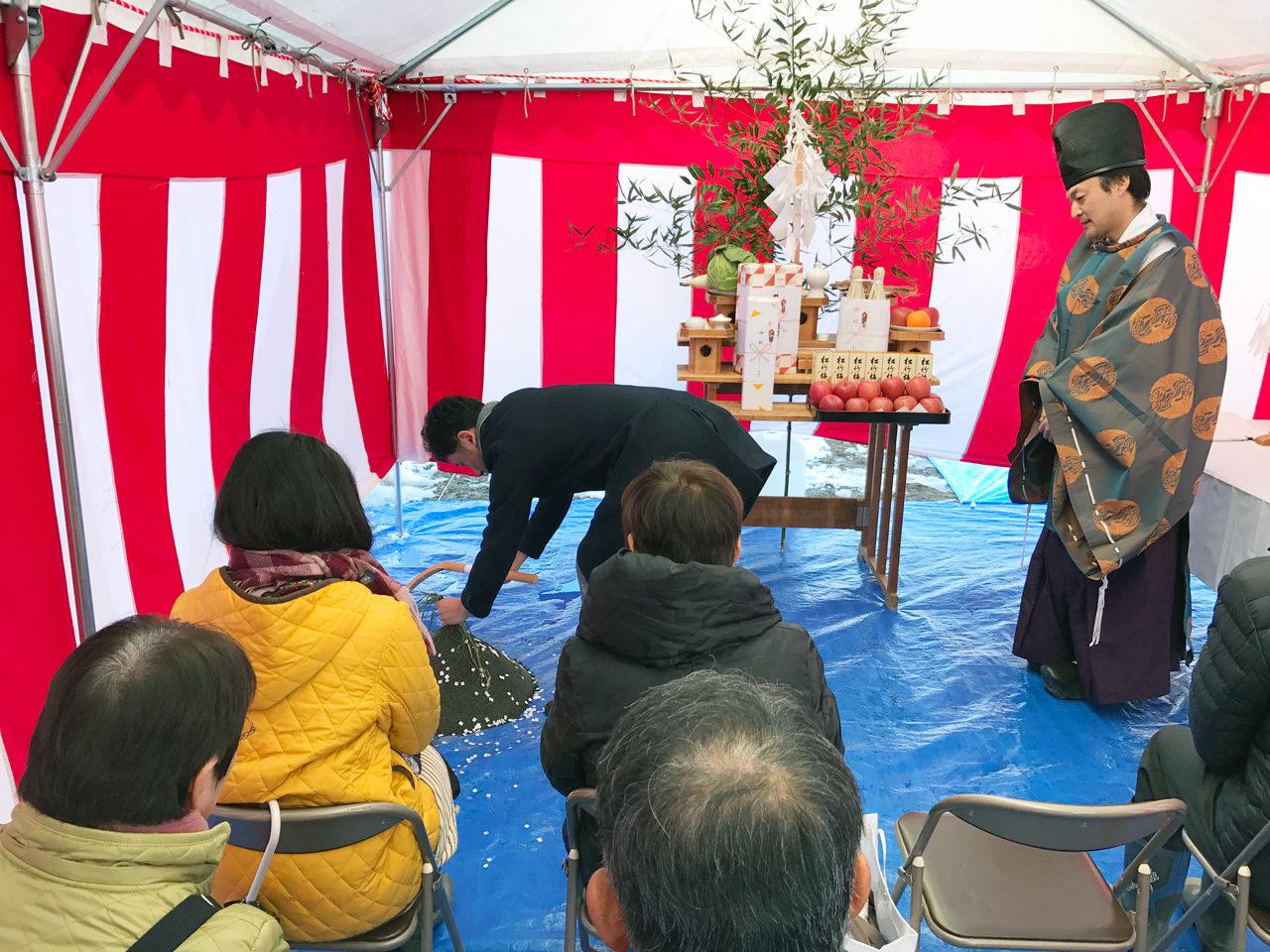 新規独立開院・開業支援をさせていただいた店舗(鍼灸接骨院)付き住宅の地鎮祭
