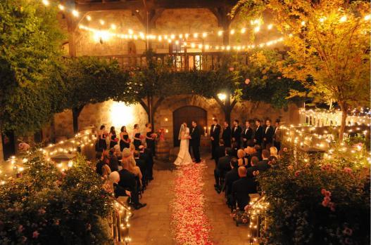 V Sattui Winery Courtyard Wedding Ceremony V Sattui