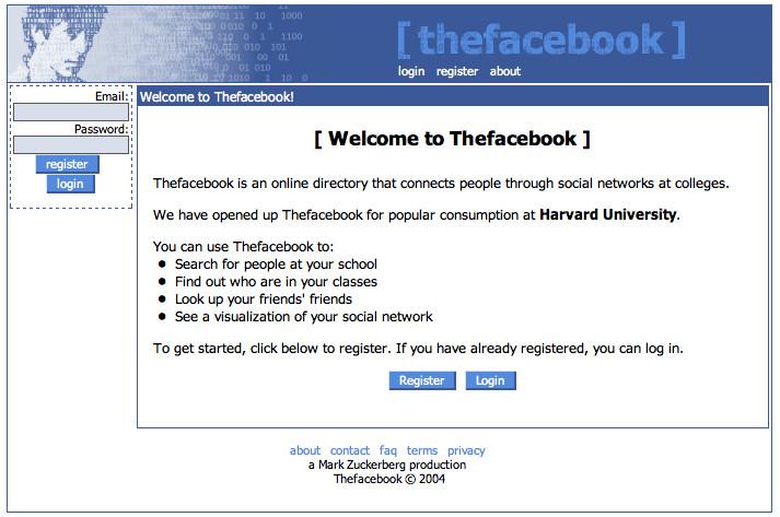 gambar sejarah facebook dimulai dari thefacebook