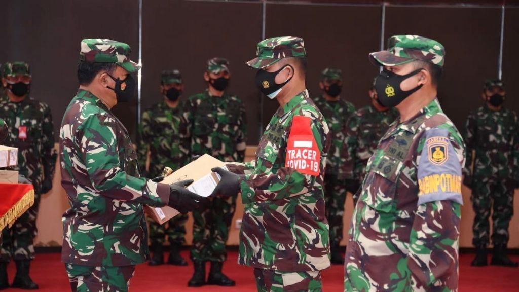 Tekan Kasus Covid-19, TNI Gunakan Tracer Digital dan Lapangan