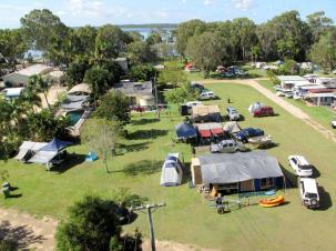 Typical caravan park