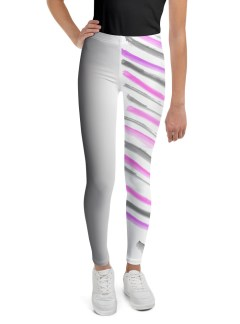 Warrior Stripes – Pink and Grey – Youth