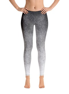 Spray Paint Street-Style Leggings Leggings – Black