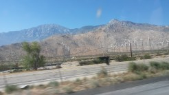 windmills and mountains
