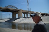 LA River at the 6th Street Bridge