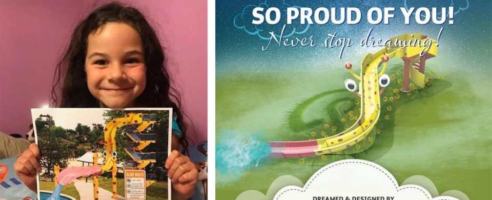 5-Year-Old Waterslide Designer Recognized by Major Manufacturer