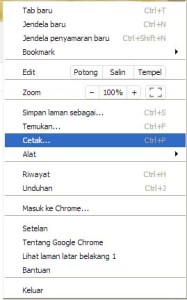 cara save as pdf dengan chrome